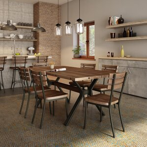 Darcelle 5 Piece Industrial Dining Set by..