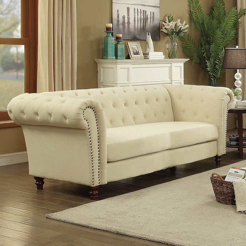 Renhold Chesterfield Tufted Back Sofa