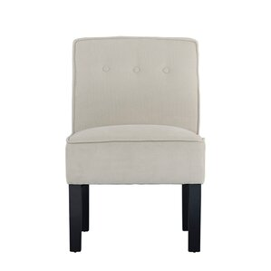 Branch Modern Sleek Linen Living Room Side Chair by Winston Porter
