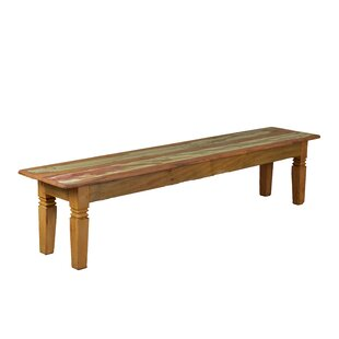 Hamblen Double Chinese Feet Wood Bench