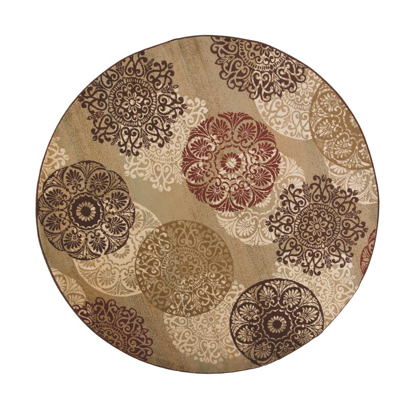 Three Posts Winterberry Beige Brown Red Area Rug Amp Reviews