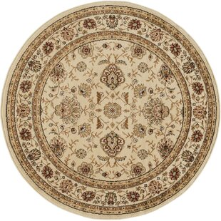 Lapoint Beige 5 Ft 3 In Round Traditional Area Rug