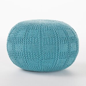 Loma Fabric Pouf Ottoman by Bungalow Rose