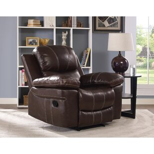 Bibbs Leather Power Glider Recliner