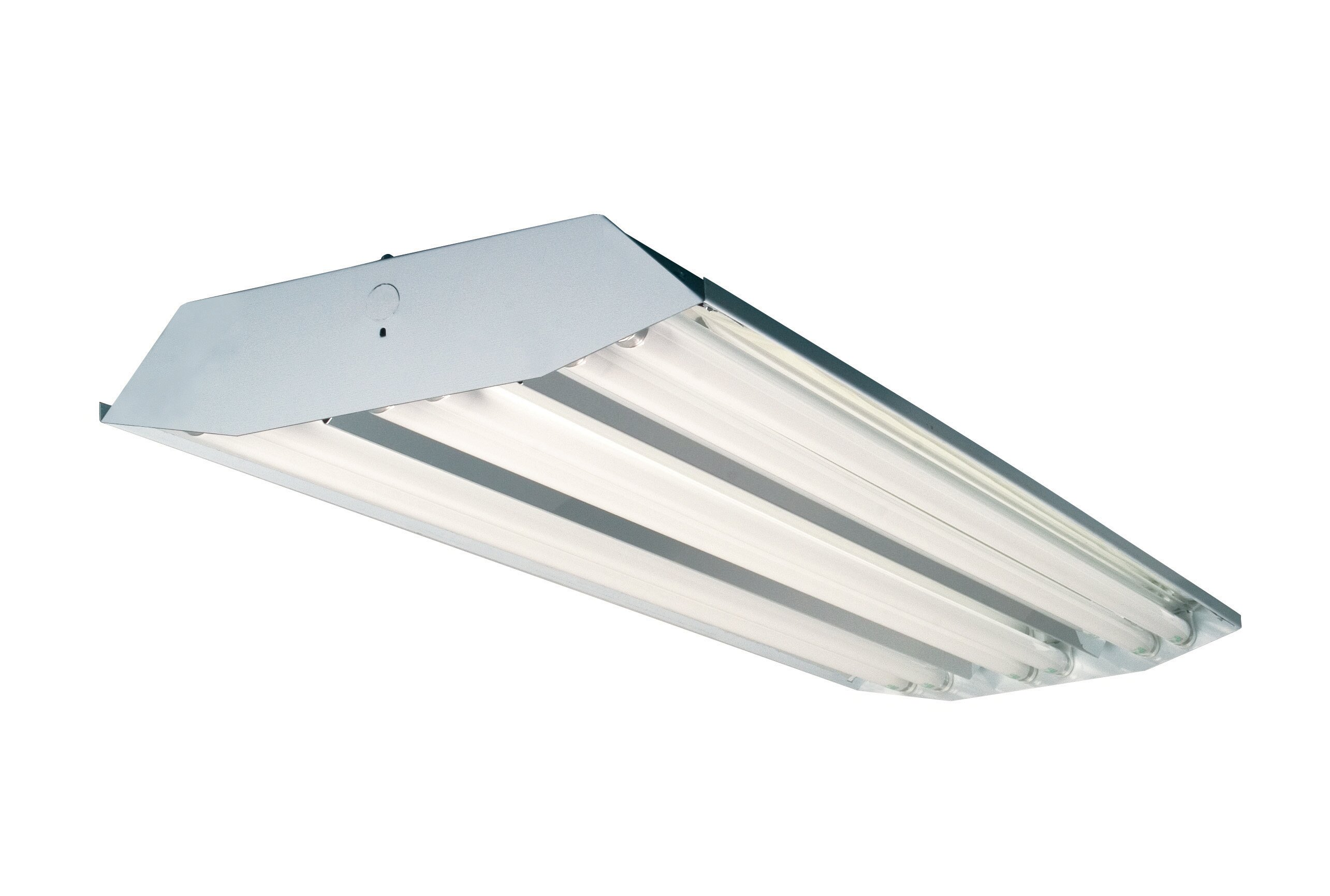 6 light high bay fluorescent light fixture with 32w t8 bulbs