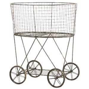Metal Wire Basket on Wheels
