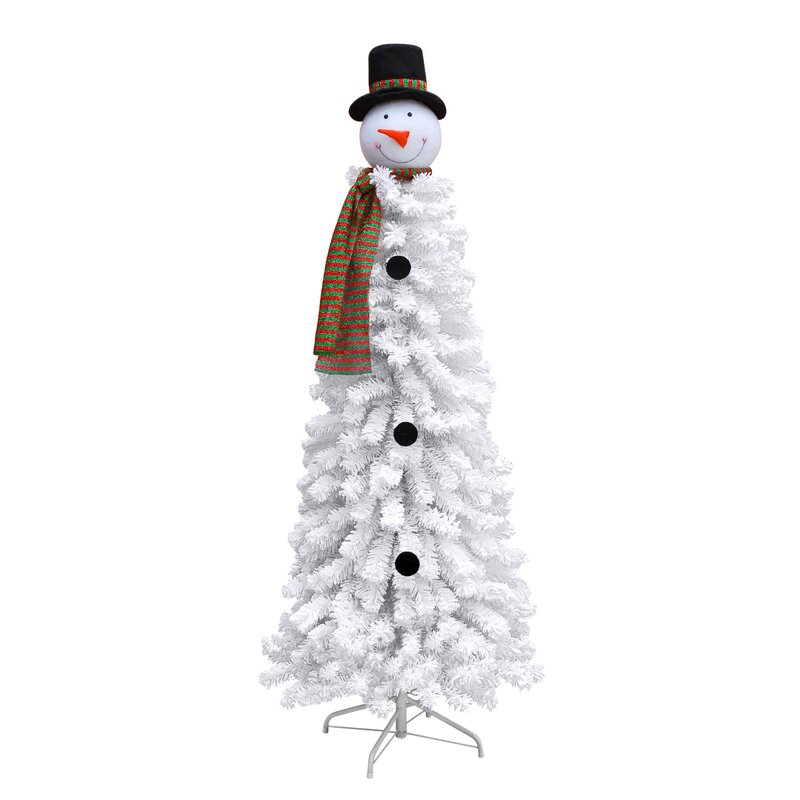 The Holiday Aisle Snowman 6' White Artificial Christmas ...