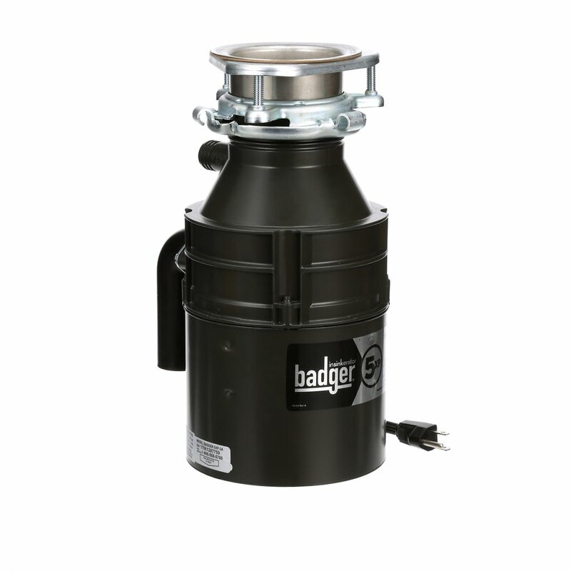 Insinkerator Badger 5xp 3 4 Hp Continuous Feed Garbage Disposal With Optional Cord Reviews Wayfair