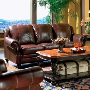 Harvard Leather Sofa by Wildon..