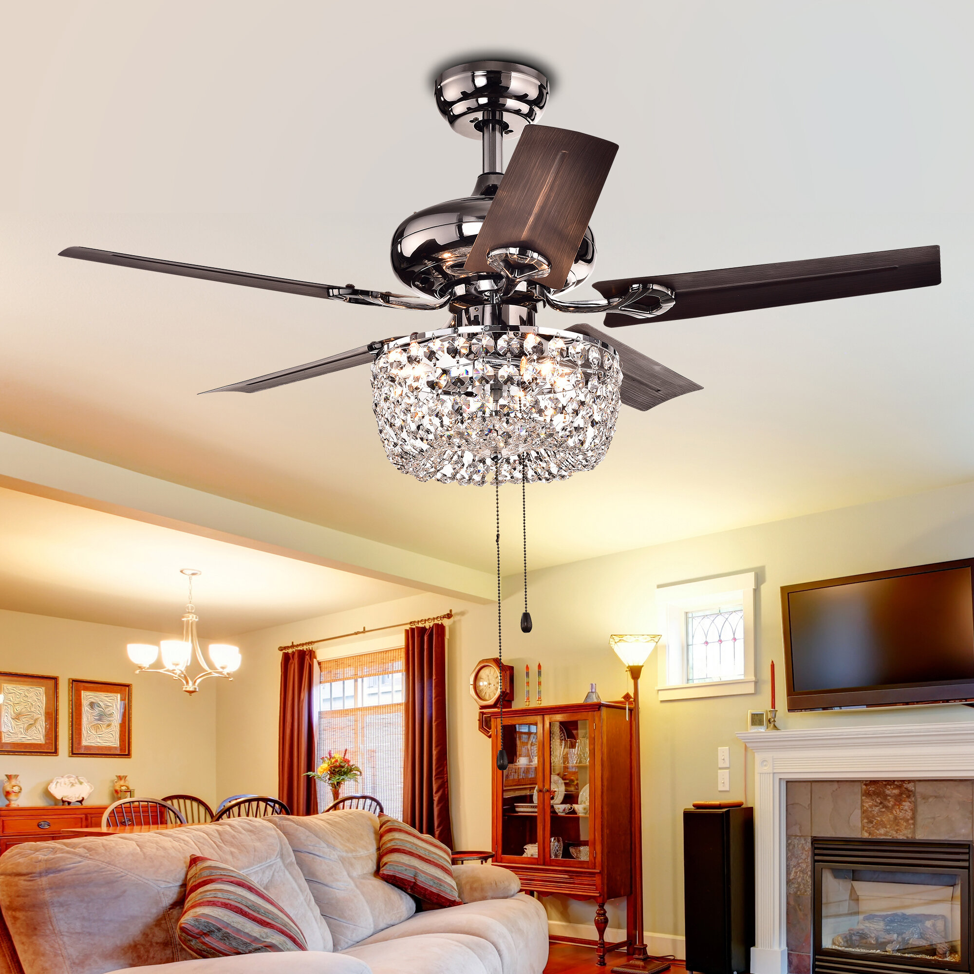 Bruno 3 Light Bowl Ceiling Fan Light Fitter & Reviews