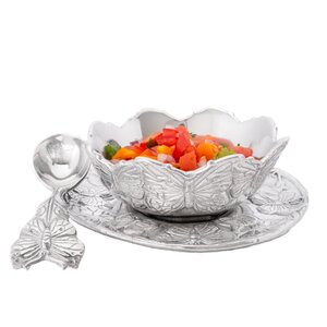 Butterfly 3 Piece Condiment Server Set