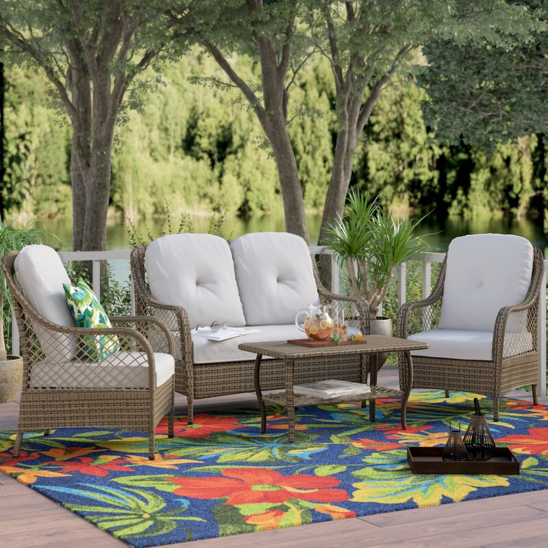 Backyard Bayou Union City Ca: Bayou Breeze Alcesta 4 Piece Sofa Set With Cushions
