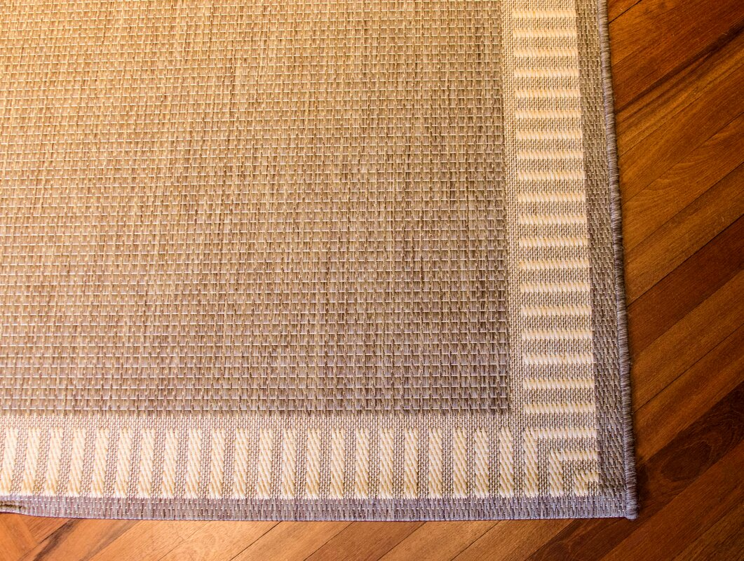 Charlton Home Westlund Wicker Stitch Cocoa Natural Indoor