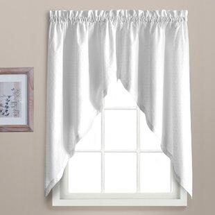 Kitchen White Valances U0026 Kitchen Curtains Youu0027ll Love | Wayfair