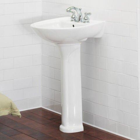 American Standard Cadet 24 5 Pedestal Bathroom Sink With Overflow Reviews Wayfair