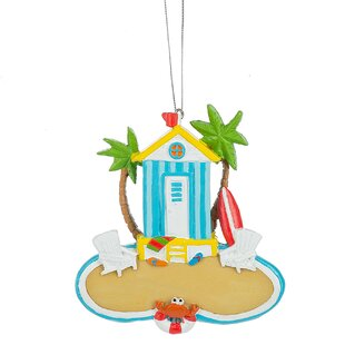 beach scene christmas ornament