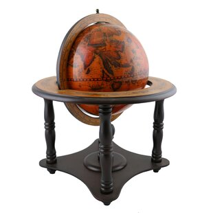 Old World Globe On Wood Base Wonderful