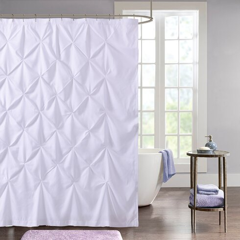 Taya Pintuck Fabric Shower Curtain