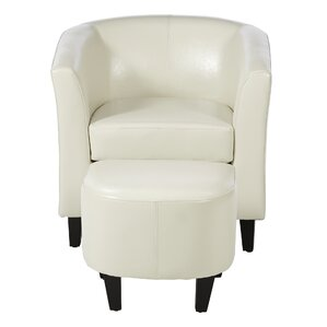Apollonios Retro Barrel Chair and Ottoman by..