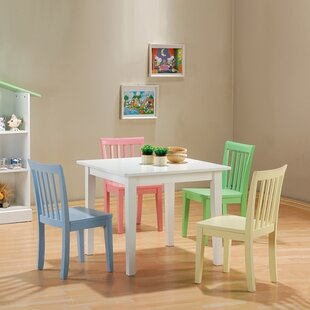 Fort Stevens Kids 5 Piece Table And Chair Set