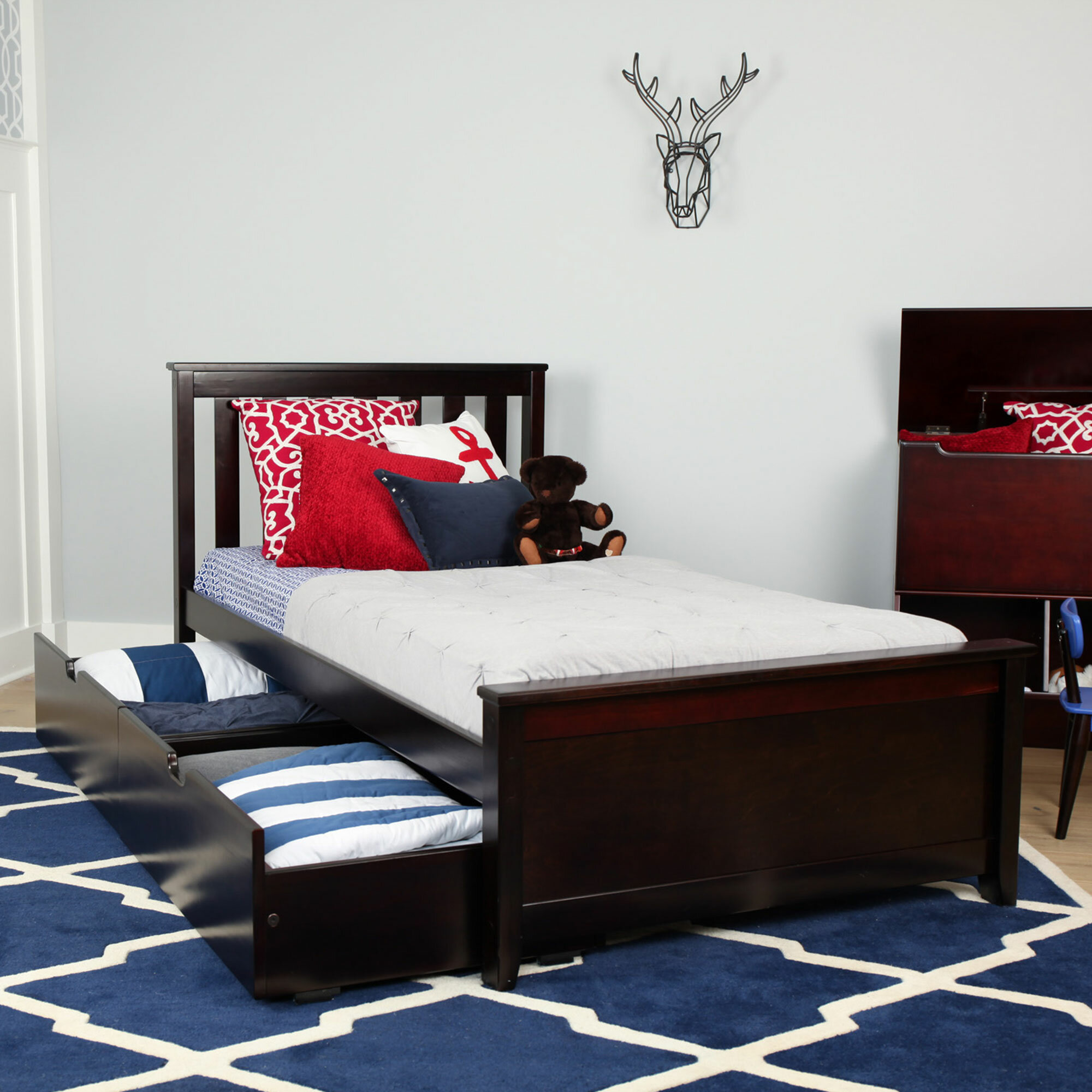 Max Lily Solid Wood Twin Platform Bed With Under Bed Storage
