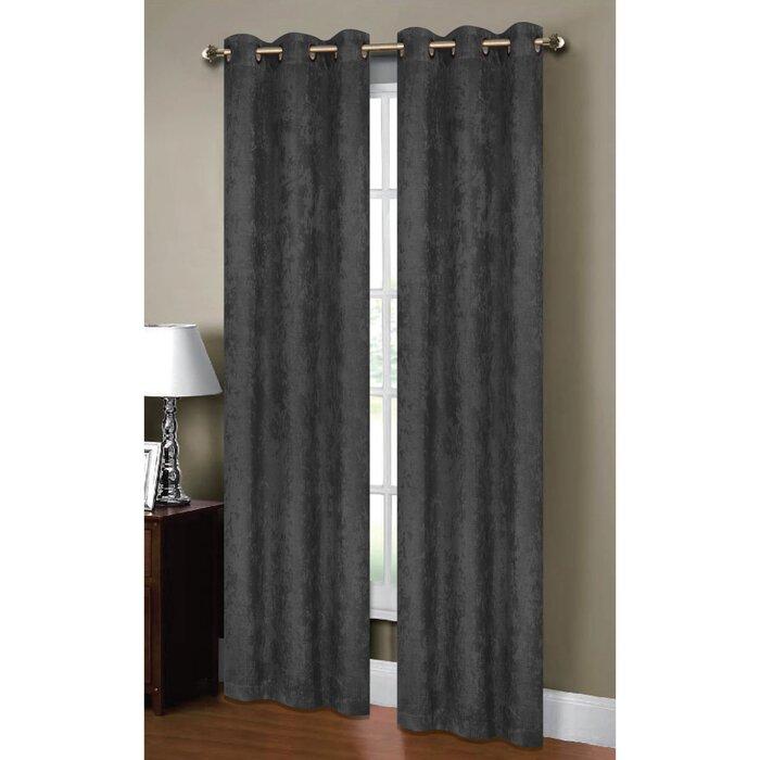Calypso Textured Solid Room Darkening Thermal Grommet Curtain Panels