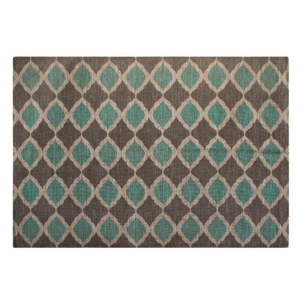 Chesapeake Printed Turquoise And Taupe Matrix Geometric