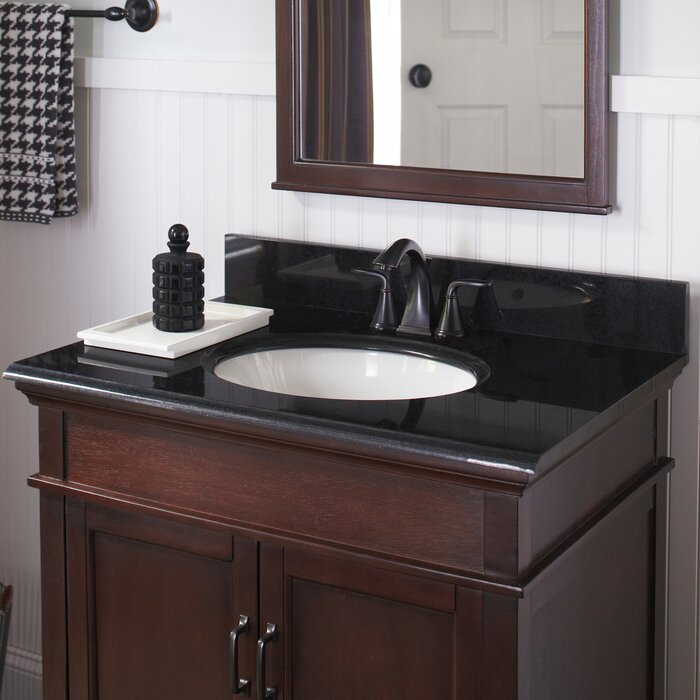 Peachy Granite 25 Single Bathroom Vanity Top Beutiful Home Inspiration Semekurdistantinfo