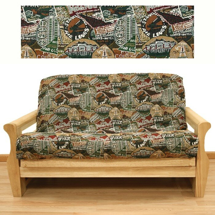 Travel Skirted Box Cushion Futon Slipcover