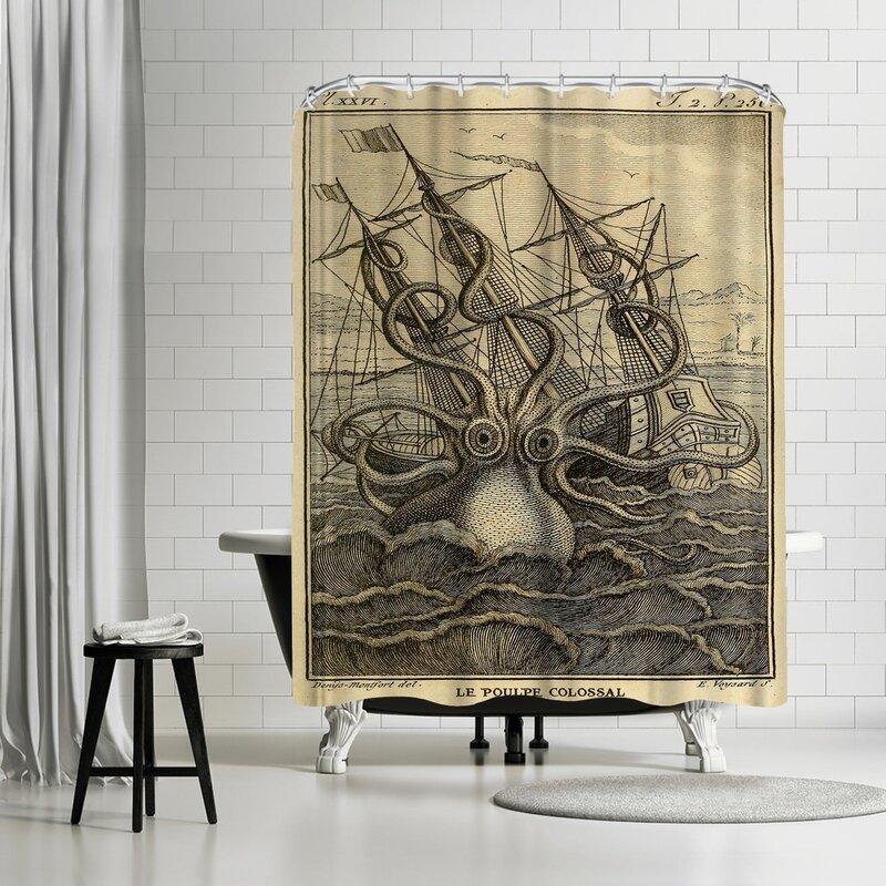 Adams Ale Marine Kraken Shower Curtain