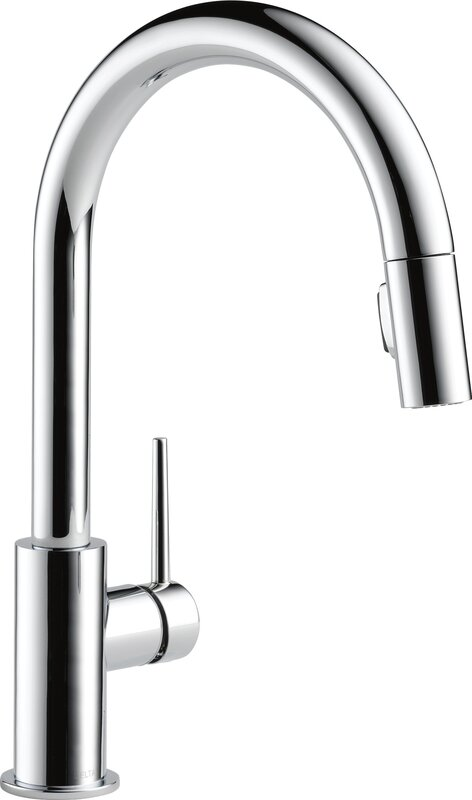Delta Pull Down Kitchen Faucets With Pause Black