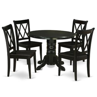 Fairmount 5 Piece Solid Wood Breakfast Nook Dining Set