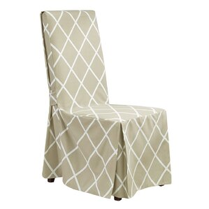 lattice parson chair skirted slipcover