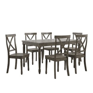 Petrucci Reclaimed Wood 7 Piece Dining Set