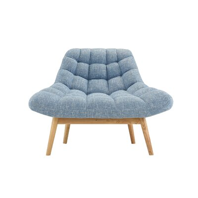 Trule Teen Benedict Lounge Chair Upholstery: Light Blue