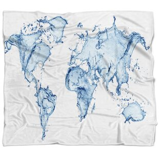 World map blanket wayfair abstract world map water splash blanket gumiabroncs Images