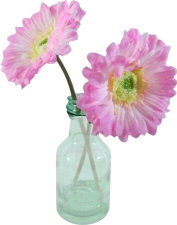 Silkmama Gerbera Daisies Floral Arrangement In Vase Wayfair