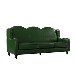 Hunter Green Leather Sofa | Wayfair