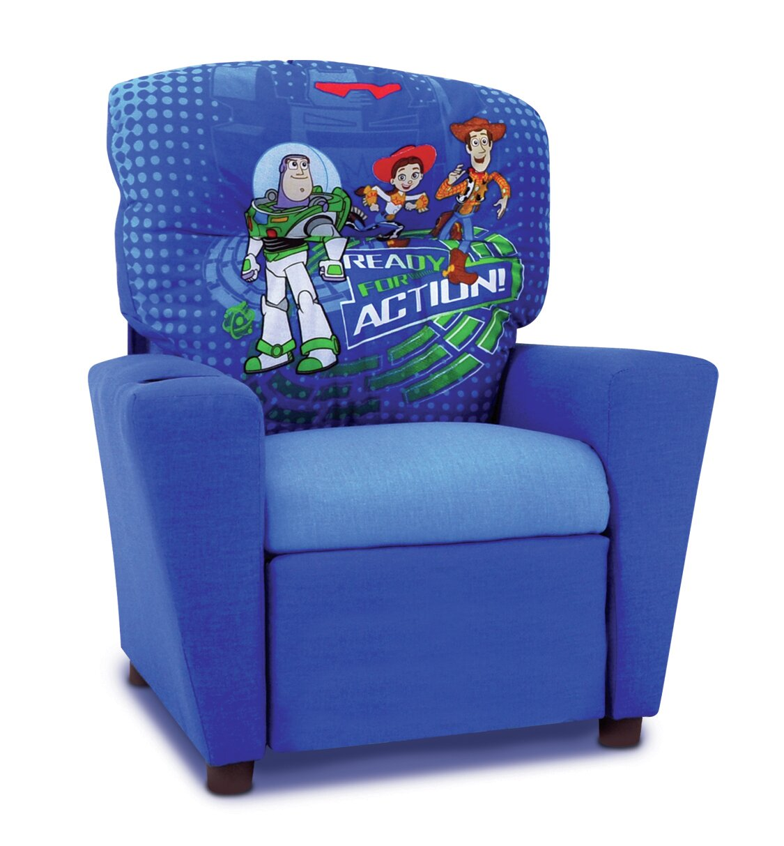 Kidzworld Disney Toy Story 3 Kids Recliner With Cup Holder