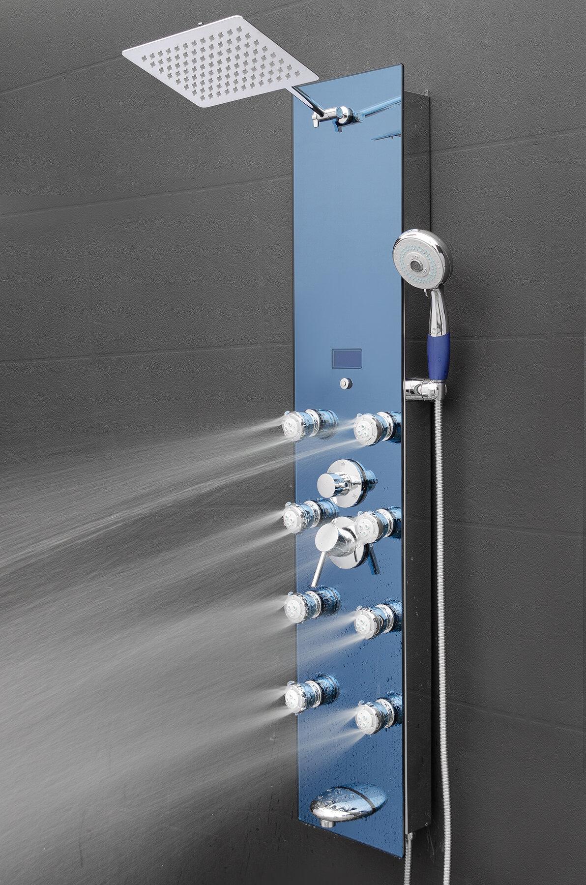 AKDY Tower Pressure Balanced Thermostatic Rain Shower Panel ...