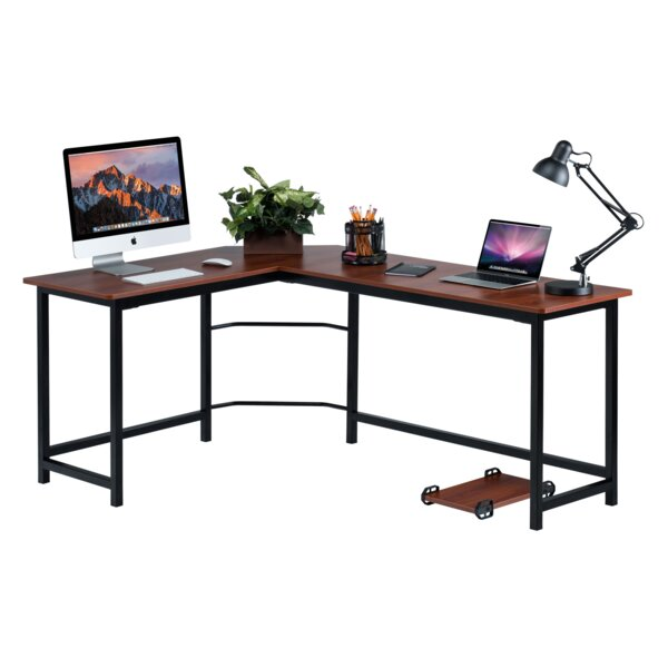 red barrel studio ohioville l shape computer desk reviews wayfair rh wayfair com l shaped computer desks canada l shaped computer desks with keyboard tray