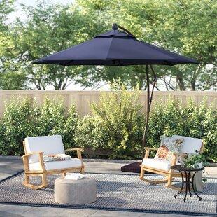 Navy Blue Cantilever Umbrella   Wayfair