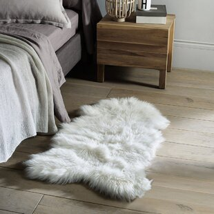 Deals Thurston Faux Sheepskin White Area Rug By Everly Quinn
