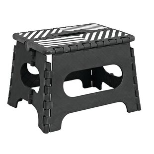 1 Step Plastic Folding Step Stool With 200 Lb. Load Capacity