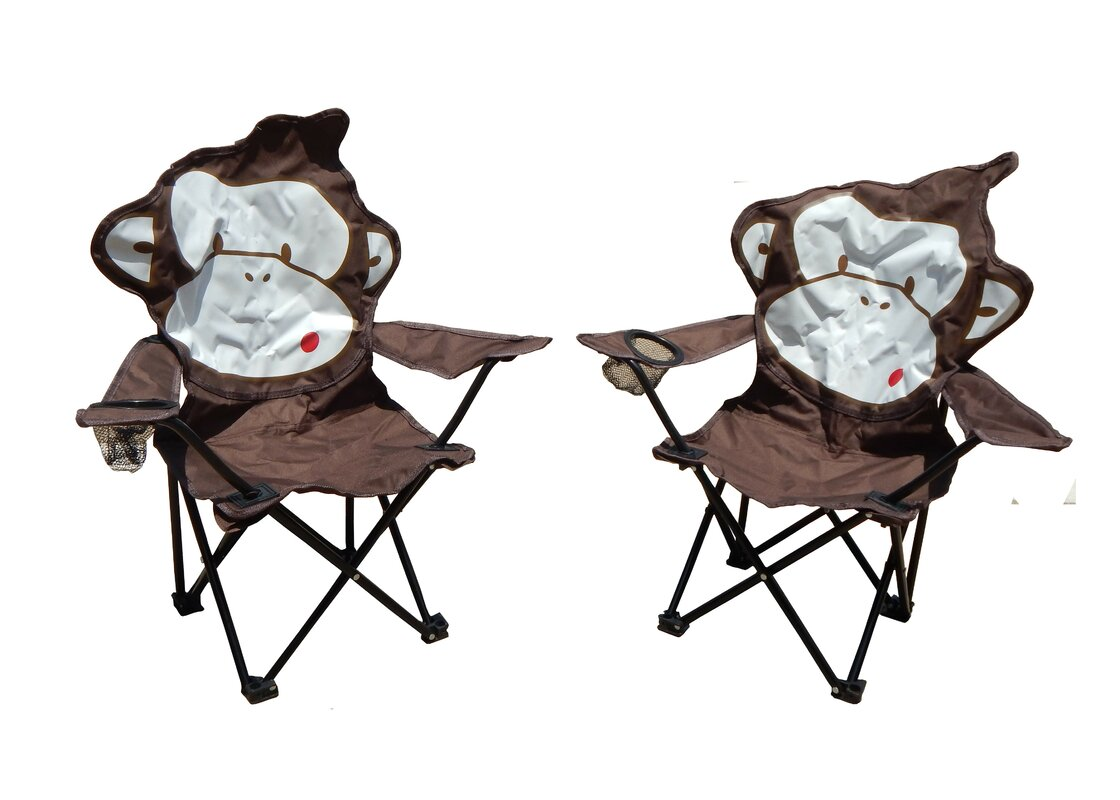 Marcus Monkey Folding Camping Kids Chair With Cup Holder