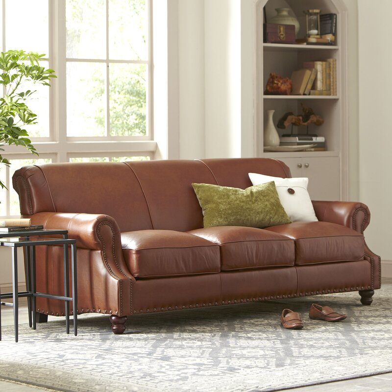 Leather Sofa Furniture landry leather sofa & reviews | birch lane
