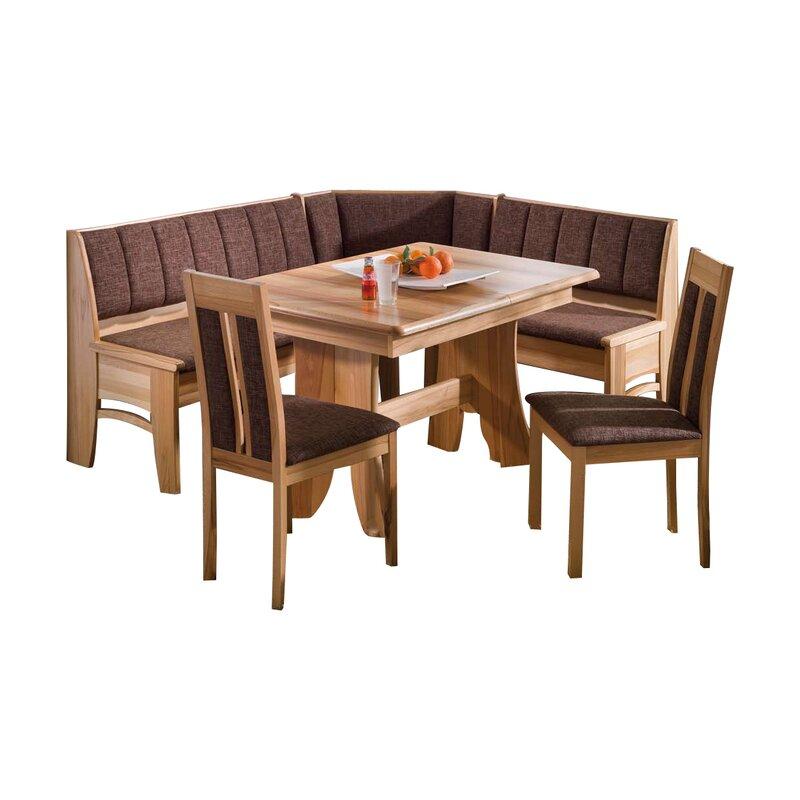 Eckbankgruppe Bali Mit Ausziehbarem Tisch Und 2 Stühlen