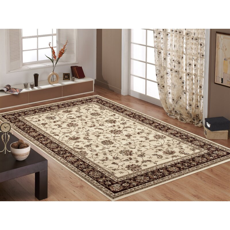 World Rug Gallery Clique Polypropylene Ivory Brown Burgundy Area Reviews Wayfair