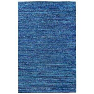 Sari Silk Handmade Blue Area Rug