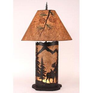 Moose Floor Lamp Moose lamps wayfair graciela moose scene 335 table lamp audiocablefo